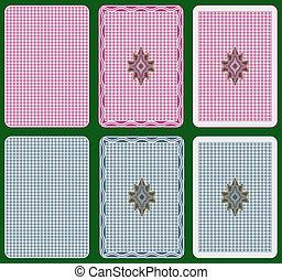 cartões, costas