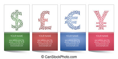 cartões, doente, vetorial, template., negócio