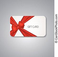 cartões, fitas, presente, vermelho