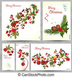 Cartões,  floral, jogo, desenho, seu
