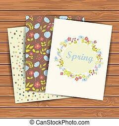 cartões, flores