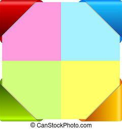 cartões, informação, vetorial, coloridos