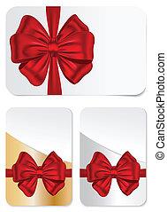 cartões, jogo, arcos, presente