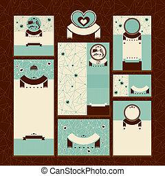 cartões, jogo, casório