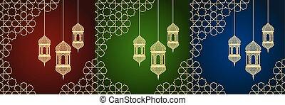 cartões, jogo, ramadan