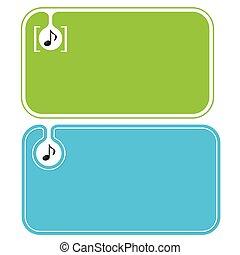 cartões, música, colorido, negócio, ícone