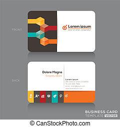 cartões negócio, desenho, modelo