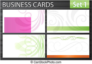 cartões, negócio, modelo