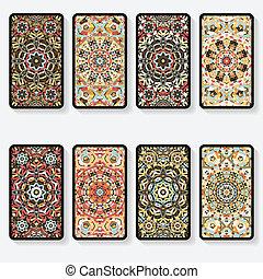 cartões, padrão, cobrança, negócio, caleidoscópio