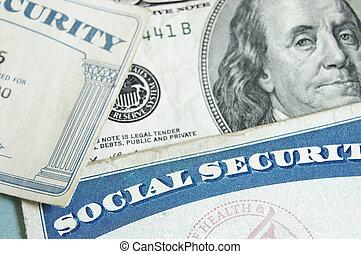 cartões, segurança, social