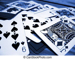 cartões, tocando