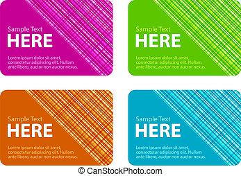 cartões, verificado, negócio, textura