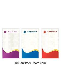 cartões, vertical, negócio