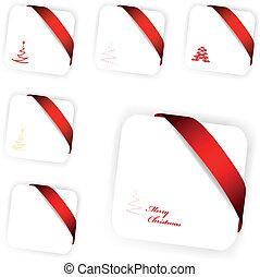 cartões, vetorial, jogo, natal