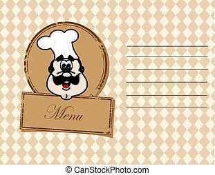 cartões, -, vetorial, menu., ilustração