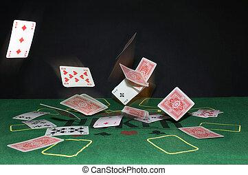 cartões, voando