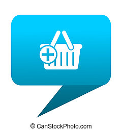 cart blue bubble icon