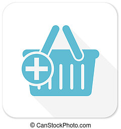 cart blue flat icon