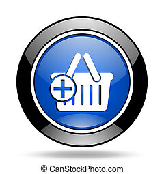 cart blue glossy icon