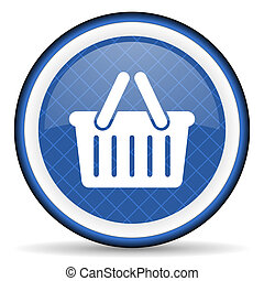 cart blue icon shopping cart symbol