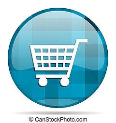 cart blue round modern design internet icon on white background