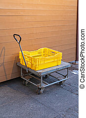 Cart Dolly Crate - Yellow Plastic Crate at Cart Dolly ...