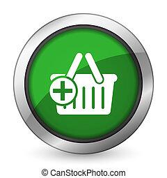 cart green icon shopping cart symbol