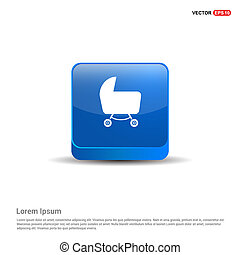 cart icon - 3d Blue Button