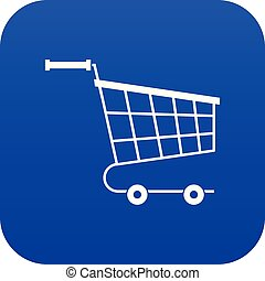 Cart icon digital blue