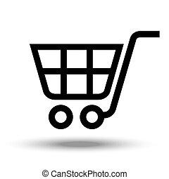 Cart icon. Isolated on white background.
