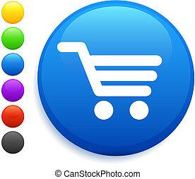 cart icon on round internet button