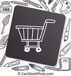 cart, indkøb, doodle