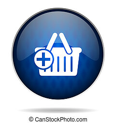 cart internet blue icon