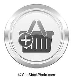 cart metallic icon shopping cart symbol