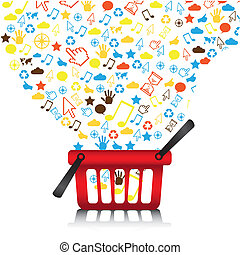 cart of communication icons