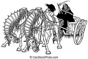 cart of death black white