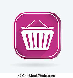 cart online store. Color square icon