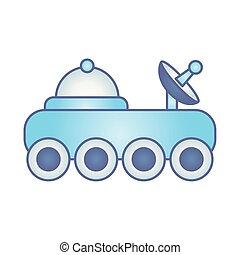 cart robot cyborg isolated icon
