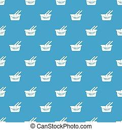 Cart shop pattern vector seamless blue