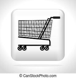 cart shopping icon button