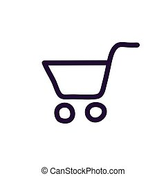 Cart shopping icon vector illustration on white background