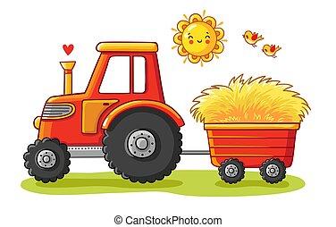 cart., tracteur