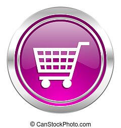cart violet icon shop sign