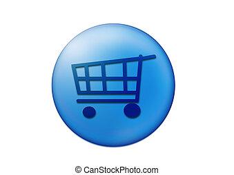 Cart  - web button for internet navigation