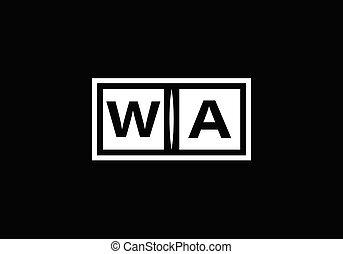 carta alfabeto, plantilla, un, inicial, logotipo, vector, ...