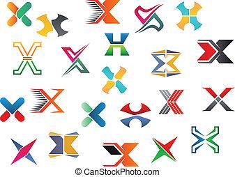 carta alfabeto, x
