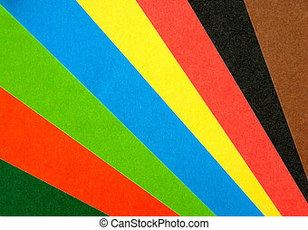 carta, arcobaleno, ventilatore