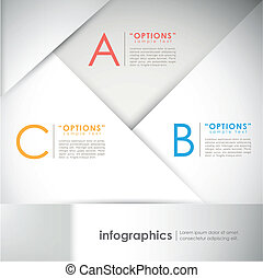 carta, astratto, infographic, elementi