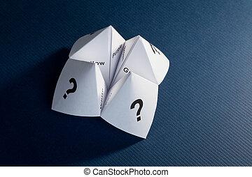 carta, cassiere, fortuna