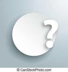 carta, cerchio, domanda, grigio